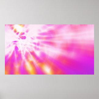 Impresión rosada del poster del arte del fractal d
