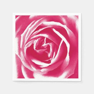 Impresión rosada del rosa del satén servilletas desechables