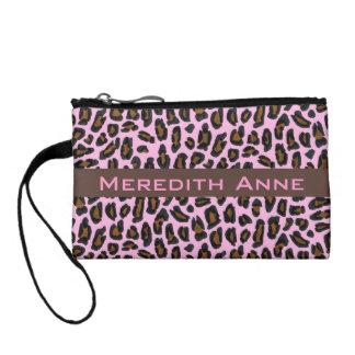 Impresión rosada femenina de la piel del leopardo