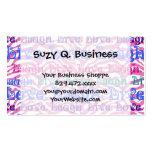 Impresión rosada femenina de las rayas de la cebra tarjetas de visita