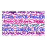 Impresión rosada femenina de las rayas de la cebra tarjeta de visita