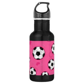 Impresión rosada linda de la estrella de fútbol