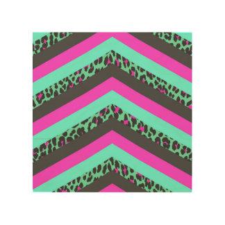 Impresión rosada negra del guepardo del trullo de impresión en madera