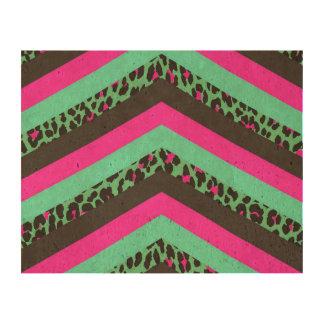 Impresión rosada negra del guepardo del trullo de papel de corcho para fotos