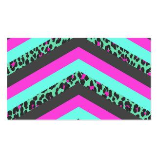 Impresión rosada negra del guepardo del trullo de tarjetas de visita
