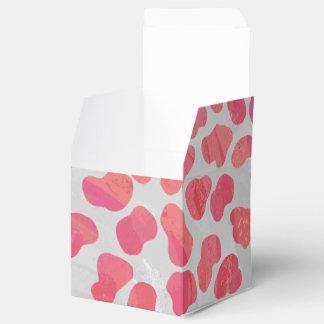 Impresión rosada y blanca dálmata cajas para regalos de fiestas