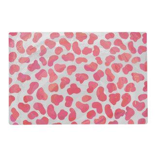 Impresión rosada y blanca dálmata tapete individual