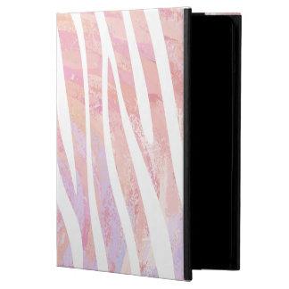 Impresión rosada y blanca de la cebra