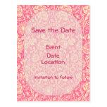 Impresión rosada y poner crema del vintage del cla tarjetas postales