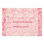 Impresión rosada y poner crema del vintage del invitacion personalizada