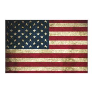 Impresión rústica apenada de la bandera de la