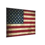 Impresión rústica apenada de la bandera de la estr impresión de lienzo