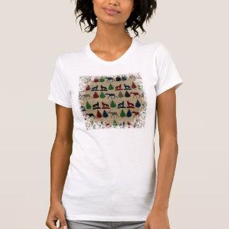 Impresión rústica de la arpillera del árbol de camisas