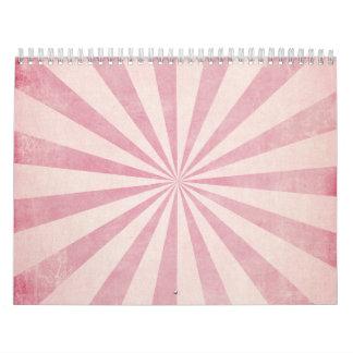 Impresión rústica de la explosión del resplandor calendarios de pared