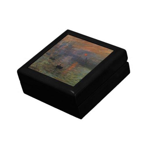 Impresión, salida del sol por impresionismo del caja de recuerdo