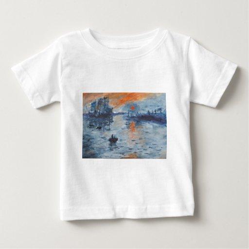 Impresión, salida del sol t shirt
