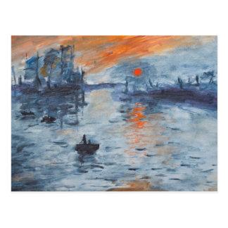 Impresión, salida del sol postales