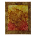 Impresión secada del rosa poster