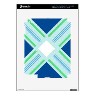 impresión serena de la simetría iPad 3 skins