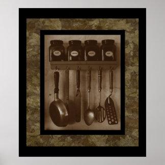 Impresión simple del Cookin'- de la cocina Póster