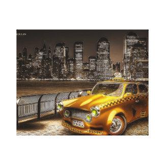 Impresión sobre tela taxi americano impresiones de lienzo