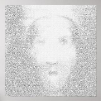 Impresión sola del arte abstracto de los minutos póster