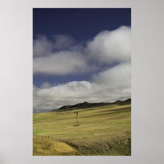 Impresión sola del molino de viento de Wyoming Posters