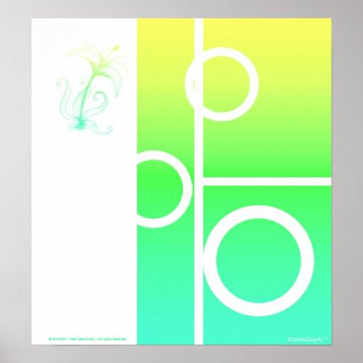 Impresión soleada del extracto del lirio poster