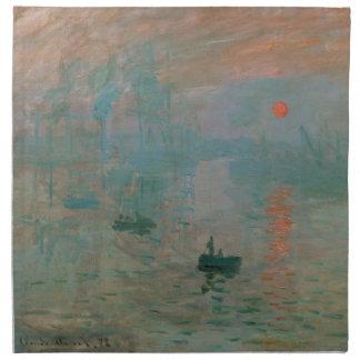 Impresión Soleil Levant de Claude Monet 1872 Servilleta
