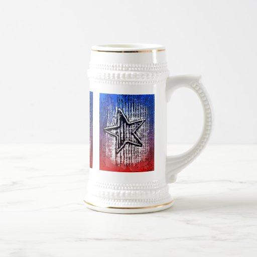 Impresión solitaria rústica fresca del arte pop de taza