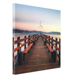 Impresión soñadora de la lona del lago Tahoe Impresiones En Lona