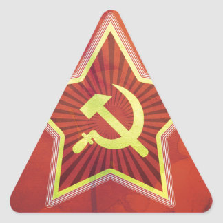 Impresión soviética calcomanía trianguladas personalizadas