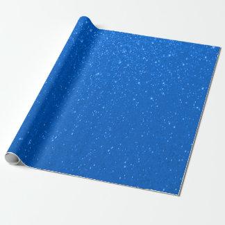 Impresión suavemente azul del brillo papel de regalo