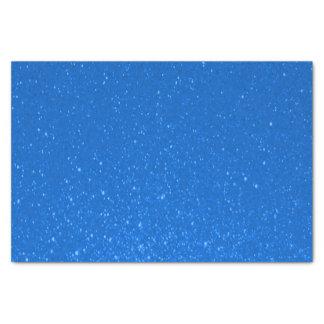 Impresión suavemente azul del brillo papel de seda pequeño