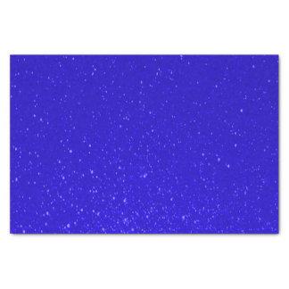 Impresión suavemente profundamente azul del brillo papel de seda pequeño