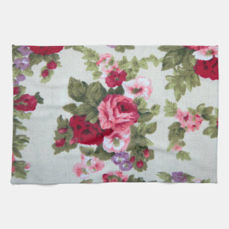 Impresión subió vintage de la materia textil toallas