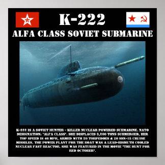 Impresión submarina de la clase soviética de la al poster