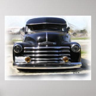 Impresión suburbana 1948 del arte de Chevy II Póster