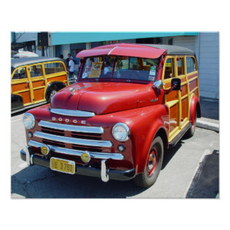Impresión suburbana de 1949 Dodge Woody Póster