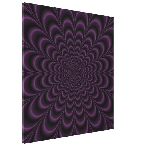 Impresión suculenta de color morado oscuro de la l impresión de lienzo