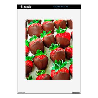 Impresión sumergida chocolate de las fresas calcomanías para el iPad