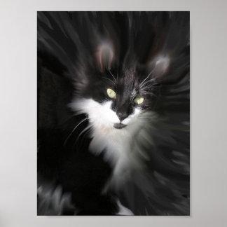 Impresión surrealista del gato posters