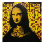 impresión tatuada del poster de Mona Lisa