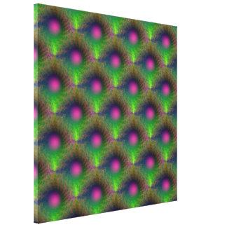 Impresión tejada orbe rosado lona estirada galerias