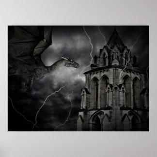 Impresión tempestuosa oscura de la noche posters