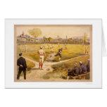 Impresión temprana 1887 del béisbol tarjeta de felicitación