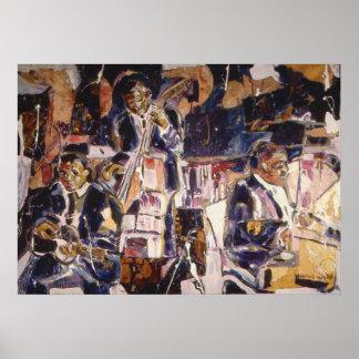 Impresión temprana del poster del jazz