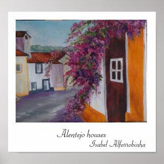 impresión típica de las casas de Alentejo Poster