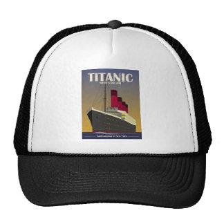 Impresión titánica del art déco del revestimiento gorras