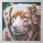 Impresión tocante del arte del perro perdiguero de posters